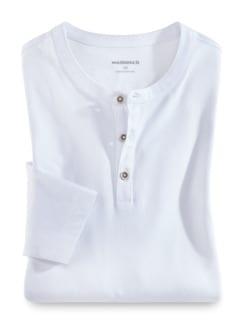 Henley-Shirt Weiß Detail 1