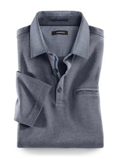 Soft-Polo High-Class Navy Detail 1