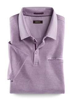 Soft-Polo High-Class Flieder Detail 1