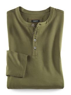 Henley-Shirt Khaki Detail 1