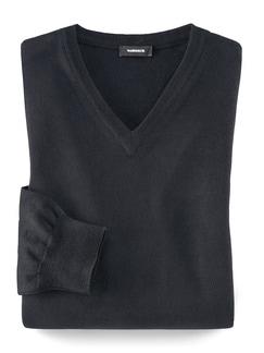 Baruffa V-Pullover Schwarz Detail 1