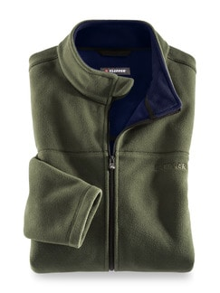 Klepper Funktions-Fleecejacke Khaki Detail 1