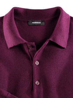 Merino-Mix Polo-Pullover Beere Detail 3