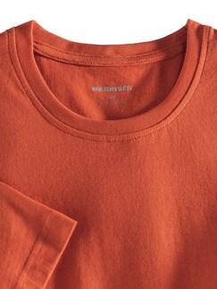 T-Shirt Rundhalsausschnitt Orange Detail 3