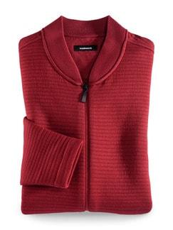 Zip-Jacke Aktiv-Struktur Rot Detail 1