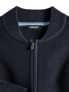 Zip-Strickjacke Soft Cotton Navy Detail 3