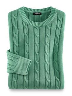 Premium SUPIMA Pullover Pistazie Detail 1