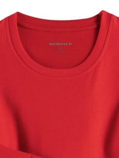Langarm-Shirt Rundhalsausschnitt Rot Detail 3