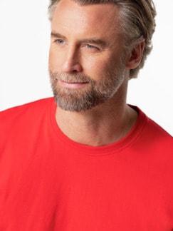 Langarm-Shirt Rundhalsausschnitt Rot Detail 4