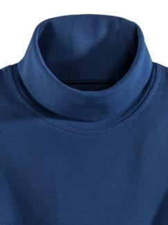 Rollkragen-Shirt Royalblau Detail 3