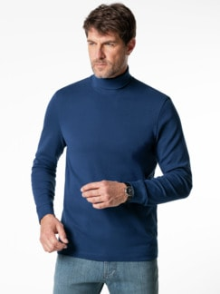 Rollkragen-Shirt Royalblau Detail 2
