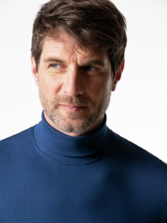Rollkragen-Shirt Royalblau Detail 4