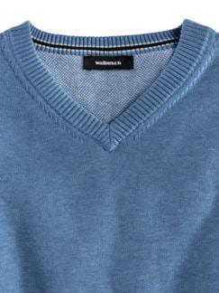 Pullunder Soft Cotton Azurblau Detail 3