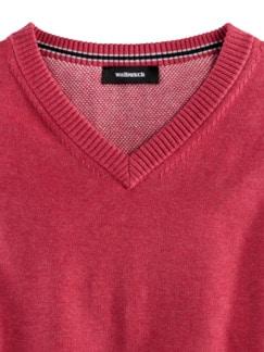 Pullunder Soft Cotton Himbeere Detail 3