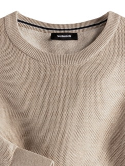 Struktur-Pullover Soft Cotton Sand Detail 3