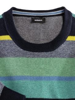 Streifen-Pullover Soft Cotton Mint/Gelb Detail 3