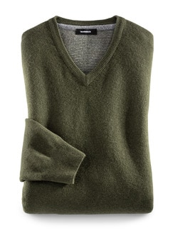 Soft-Pullover Ultrafein Khaki Detail 1