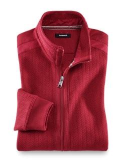 Zip-Jacke Klima-Struktur Rot Detail 1