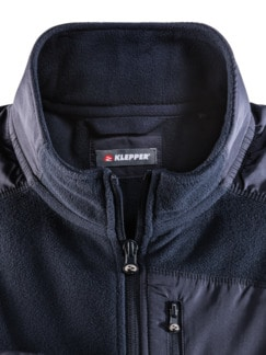 Klepper Microfleece-Jacke Navy Detail 4