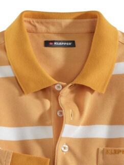 Klepper Extraglatt Langarm-Polo Mais Detail 3