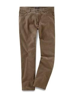 Five Pocket Hose Lederfinish Camel Detail 1