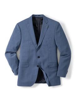 Naturstretch-Anzug-Sakko Blaugrau Detail 1