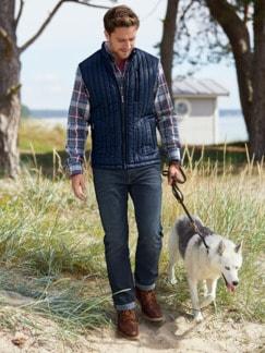 Husky Jeans Five-Pocket Dark Blue Detail 4