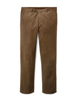 Chino Cashmere-Finish Tabak Detail 1
