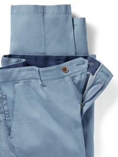 Easycare Light Cotton Chino Hellblau Detail 4