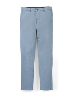 Easycare Light Cotton Chino Hellblau Detail 1