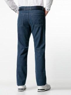Jogger-Jeans Five Pocket Glencheck Marine Detail 3