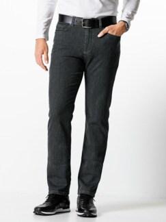Jogger-Jeans Five Pocket Glencheck Grau Detail 2