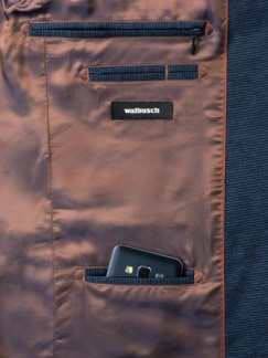Jersey-Sakko Bicolor Mittelblau Detail 3
