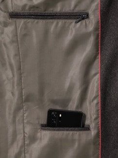 Loden Janker Wolle/Cashmere Braun Detail 4