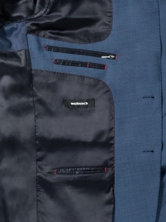Travel-Anzug-Sakko 1440 Mittelblau Detail 4