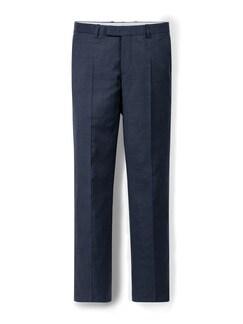 Schurwoll Anzug-Hose S100 Dunkelblau Detail 1
