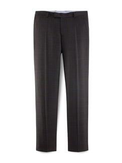 Masterclass Anzug-Hose Super 130 Braun/Grau Detail 1
