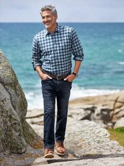 Extraglatt Flex Jeans Modern Fit Dark Blue Detail 3