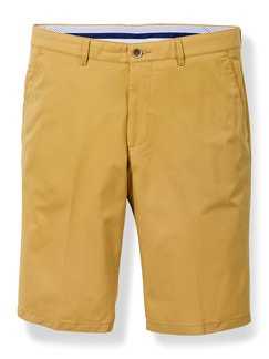 Easycare Light Cotton Bermudas Gelb Detail 1