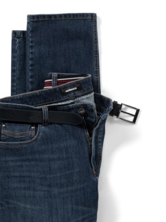 Gürtel-Jeans Modern Fit Dark Blue Detail 4