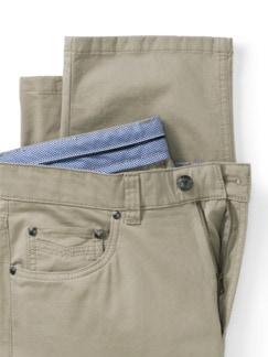 Extraglatt High Stretch Five-Pocket Beige Detail 4