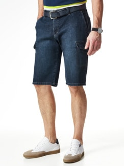 Cargo Jeans Bermudas Dark Blue Detail 2