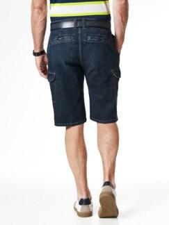 Cargo Jeans Bermudas Dark Blue Detail 3