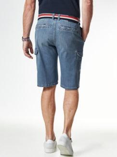 Cargo Jeans Bermudas Bleached Detail 3
