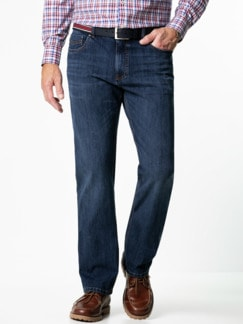 Gürtel-Jeans Regular Fit Dark Blue Detail 2