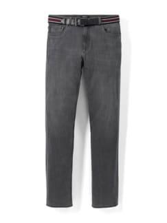 Gürtel-Jeans Regular Fit Grey Detail 1