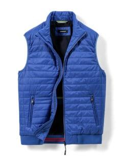 Steppweste Wash&Wear Royalblau Detail 1