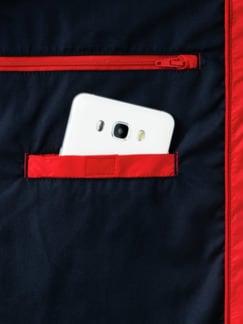 Steppweste Wash&Wear Rot Detail 3