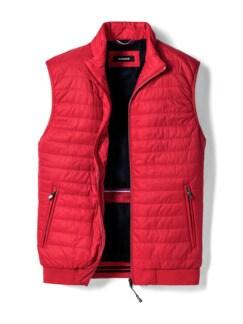 Steppweste Wash&Wear Rot Detail 1