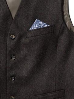 Loden Weste Wolle-Cashmere Braun Detail 4